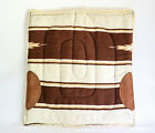 """Classic Horse Saddle Pad Approx. 24""""x24"""" Navajo Design w/ Suede Wear Leathers"""