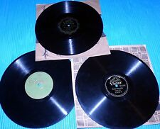 """Gypsy Trio, Russian Novelty Orch. & Franzen-Holt Orch. 3X10"""" 78rpm Lot"""