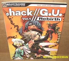 .Hack//G.U. Vol. 1 Rebirth Official Strategy Guide Book PlayStation 2 PS2 New
