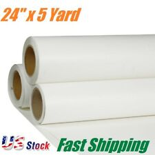 "US Stock 24"" x5 Yard Roll White Printable Heat Transfer Vinyl for T-shirt Fabric"