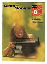BASF - CONSEJOS PARA LOS AFICIONADOS A LAS COMPACT CASETTE EDICION 1971