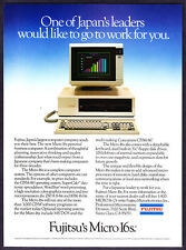 "1982 Fujitsu Micro 16s Personal Computer photo ""Japan's Largest"" promo print ad"