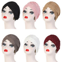 Muslim Women Turban Hat Beads Hijab Chemo Cap Head Scarf Bonnet Hair Loss Islam