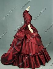 Victorian French Bustle Masquerade Prom Ball Gown Dress Theater Clothing 330 Xxl