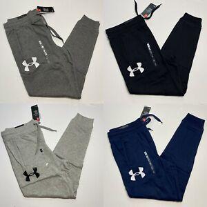 Under Armour UA Men's Rival Fleece Logo Joggers Sweatpants Black Grey Navy