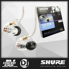 Shure SE315 Earphones CLEAR - BRAND NEW GENUINE, IEM earbuds, SE-315CL