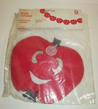 1980'S AMSCAN TISSUE PAPER APPLE GARLAND DECORATION  10 FT LONG DEAL/2 OLD STOCK