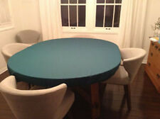 "Green Poker Felt Table cloth - fits 60"" round table - elastic edge bl - mto"