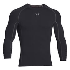 Under Armour Heatgear Compression camiseta manga larga acero negro 1257471-001 S