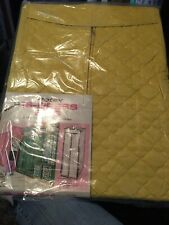 Vintage Harvest Gold Jumbo 16 Dress Bag Protex 70s Retro 15x20x54 New Closet