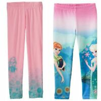 NWT Toddler Girl Frozen Anna Elsa & Disney Princess Rapunzel Leggings Size 2T