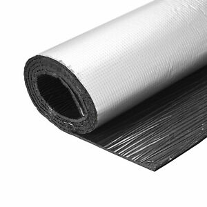Insulation Sheet 2mx0.5mx5mm Adhesive Thermal Barrier Roof Wall HVAC Pipe Duct