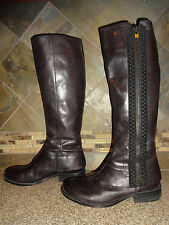 """Womens Vince Camuto """"Finny"""" Sz 8B/38 Black Tall Leather Boots"""