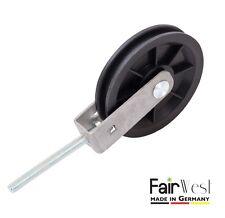 Seilrolle Umlenkrolle mit Halterung Halter und Gewinde-Schraube Ø 90 mm