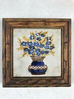 vintage Wood Ceramic Tile Insert Trivet Pot Pan Hot Pad Rest Feet Ceramica Marco