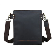 TIDING New Retro Real Leather Men's Shoulder Bag Sling Cross Body Small School