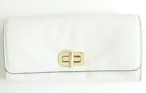 Michael Kor's  Sullivan Large Carryall Leather Wallet 32H6GUPE3L Optic White