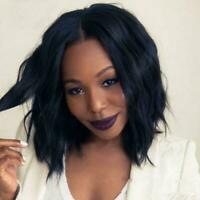 Short Bob Brazilian Curly Lace Wig 100 Human Hair Silk Parting Wigs Deep To CL