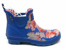 Joules Women's Wellibob Pull On Ankle Rain Boots Blue Floral Size 9 M US
