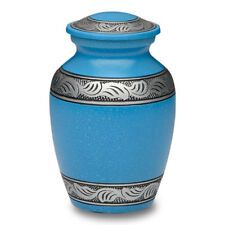 Turquoise Alloy Cremation Urn - SMALL - 2nd Quality - Free Shipping - A-1489-S-T