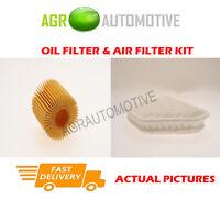 DIESEL SERVICE KIT OIL AIR FILTER FOR TOYOTA AURIS 1.4 90 BHP 2012-