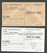 1947 U.S. Post Office Forms Pair #3578-P White & Buff For P.O. Box See Info