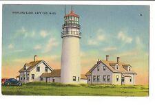 Vintage Postcard Cape Cod Highland Light Lighthouse MA Massachustts