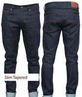 Mens Jeans | 12oz Raw Japanese Selvedge Denim | Slim Fit Tapered | stretched