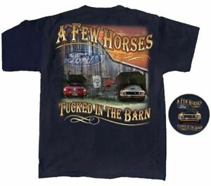 """A Few Horses Tucked in the Barn"" Ford Mustang T-Shirt. Boss Fastback WAY COOL!"