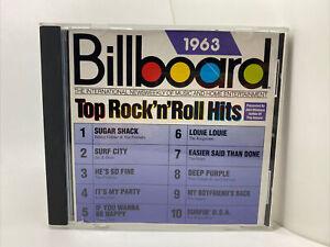 Various Artists : 1963 Billboard Top Rock N Roll Hits Oldies 1 Disc CD