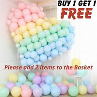 """5""""-10""""-12"""" inch Quality Macaron Pastel balloons Candy Mix Color Party Baloon UK"""