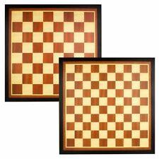 Abbey Game schaak- en dambord hout bruin/ecru schaakbord dambord dubbelzijdig