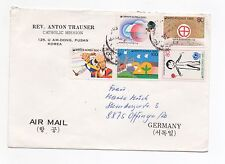 1990 KOREA Air Mail Cover PUSAN To OFFINGEN GERMANY Catholic Mission.