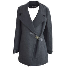CHANEL 00A #38 Double Breasted Long Sleeve Coat Jacket Gray Authentic 05775