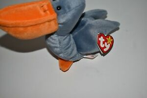 <CR> TY beanie baby SCOOP the PELICAN 1996 RARE tag with errors (HL27)