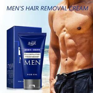60ml Men Permanent Hair Removal Cream For Pubic Depilatory Beard Pas NEW Fast
