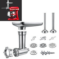 Steel Meat Grinder Attachment Set For KitchenAid Stand Mixers - Replacement Part