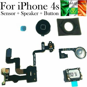 For iPhone 4s Power Button Proximity Light Motion Sensor Flex Cable Home Button