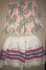 GYMBOREE girls 2 Skirts, Size 7, Skirts, 2-Piece Mixed Lot, Pineapples, Stripes
