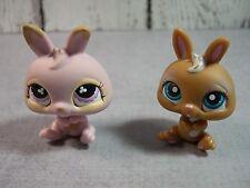 Littlest Pet Shop dwarf rabbits bunnies 220 brown  667 pink