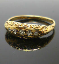 18ct yellow gold vintage five stone diamond ring with dates to 1915