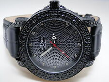 Mens Khronos/Joe rodeo black Simulated Diamond stainless steel 2 row watch