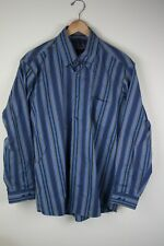 Men's LARGE Forsyth of Canada Shirt Wrinkle Free 2 ply 80s SHIPS TODAY OH284