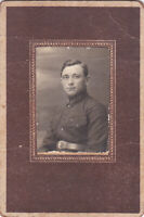 1920s CDV Handsome young man military guy RKKA old Russian antique photo gay