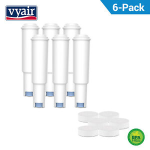 6 Rimpiazzo Filtro Dell'acqua per Jura Nespresso + Compresse di Pulizia