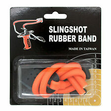 Wizard Slingshot Replacement Rubber Power Bands Orange Color - Open Box
