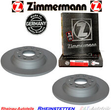 2xZimmermann Bremsscheiben Hinten AUDI SEAT SKODA VW