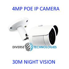 4MP Poe Bullet IP Security Camera IR 30m Night Vision Outdoor 3.6mm lens 1080P