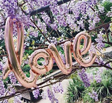 Love Script Balloon, Love Balloon, Rose Gold, 108cm x 64cms