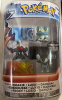 2015 TOMY Nintendo Pokemon XY Froakie Luxio Darkrai 3 Figure Set FACTORY SEALED